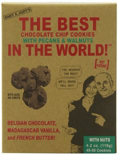 Bart's Bakery Best Chocolate Chip Cookies with Pecans and Walnuts, 4.2 Ounce - http://bestchocolateshop.com/barts-bakery-best-chocolate-chip-cookies-with-pecans-and-walnuts-4-2-ounce/