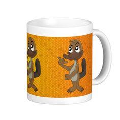 Mug with platypus cartoon