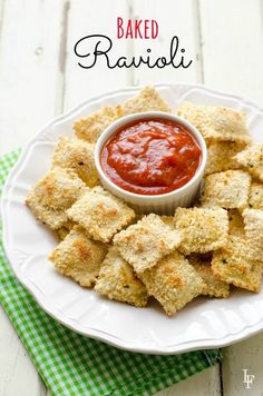 Baked people. These raviolis are baked! Super easy to make too.