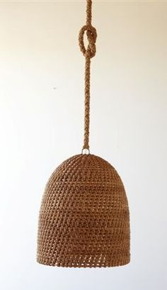 Natural but tailored hanging lamp