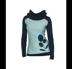 """Hoodies - REDUZIERT- gr 44- Sweat Hoody """"GREEN F """" - ein Designerstück von Iza-Fabian-Design bei DaWanda"""
