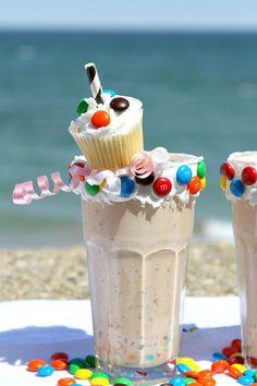 Birthday Cake Milkshakes Recipe - RecipeGirl.com