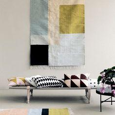 Ferm Living - Kelim Rug/tæppe - Squares - Large - GRATIS FRAGT