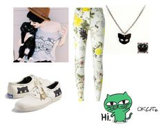 cat by r2005g on Polyvore featuring moda, Etro and Keds