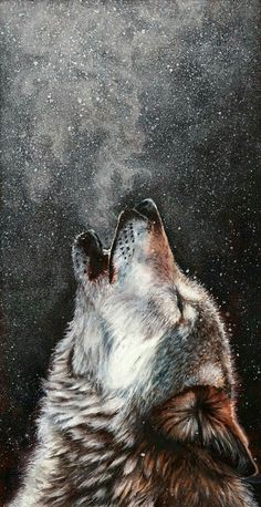 Every breath I take - Beautiful pastel painting of a howling wolf by Peter Williams Wolf Spirit, Spirit Animal, Beautiful Wolves, Animals Beautiful, Wolf Painting, Painting Abstract, Wolf Wallpaper, Wolf Pictures, Amazing Art