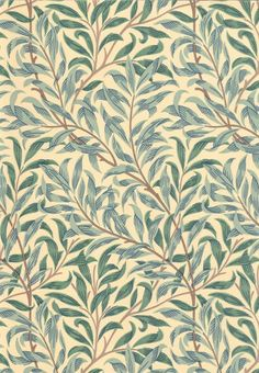 Willow Boughs by William Morris. The Original Morris & Co - Arts and crafts, fabrics and wallpaper designs by William Morris & Company William Morris Tapet, William Morris Wallpaper, Morris Wallpapers, Print Wallpaper, Fabric Wallpaper, Wallpaper Designs, Scandi Wallpaper, Hall Wallpaper, Feature Wallpaper