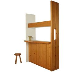 Charlotte Perriand Freeform Bar, Les Arcs, 1960s   From a unique collection of antique and modern dry bars at http://www.1stdibs.com/furniture/storage-case-pieces/dry-bars/