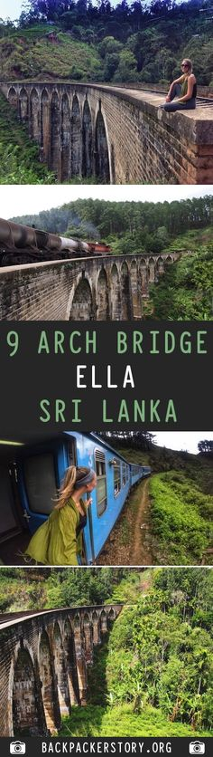 9 Arch Bridge in situated in the green hill town of Ella in Sri Lanka. How to get to 9 Arch Bridge, 9 Arch Bridge price and best time to visit 9 Arch Bridge Ella Sri Lanka, Travel Around The World, Around The Worlds, Arch Bridge, World 1, Backpacker, Vacation Spots, Cool Places To Visit, The Good Place
