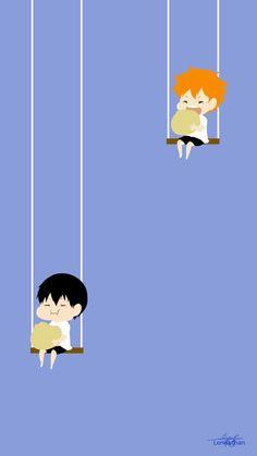 : Kageyama x Hinata Minimalist by Lennachan I'm dying inside :) Haikyuu Wallpaper, Cute Anime Wallpaper, Cute Wallpaper Backgrounds, Cartoon Wallpaper, Cute Wallpapers, Kageyama X Hinata, Haikyuu Karasuno, Haikyuu Anime, Manhwa