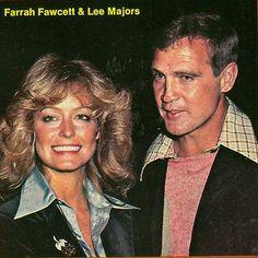 Farrah smiles with husband, actor Lee Majors.