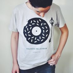 'Sounds Delicious' Vintage Tee: B&W | Turntable Kitchen