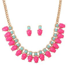 Stationery Plum Red Gemstone Decorated Waterdrop Shape Design Alloy Korean #Necklaces   www.asujewelry.com
