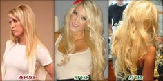 Hair Extensions Before and After Jenn Hair Extention, Hair Extensions Before And After, Cool Hair Color, Cut And Style, Pretty Hairstyles, Pretty Woman, New Hair, Hair Ideas, Hair Cuts