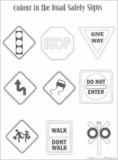 Having and showing Traffic and Road Signs Coloring Pages to print might be a fun activity to do among school activities. And colorists will distinguish Printable Preschool Worksheets, Kindergarten Worksheets, Worksheets For Kids, Printable Coloring Pages, In Kindergarten, Addition Worksheets, Free Preschool, Preschool Themes, Preschool Classroom