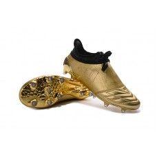 08aea6ef7b adidas x 16 purechaos space craft k-couro - dourado   preto sapatos de  futebol