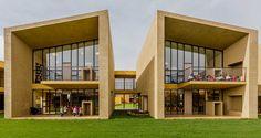 Daniel Bonilla Arquitectos and Marcela Albornoz of Taller de Arquitectura de Bogotá designed the new San José nursery school in Cajicá Colombia San Jose, Daycare Design, Glass Cabin, New View, Facade Architecture, Design Process, Preschool, Patio, Mansions