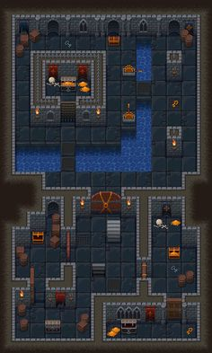 Top-down roguelike dungeon tileset. on Behance