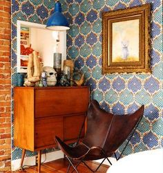 Great wall paper - great nook