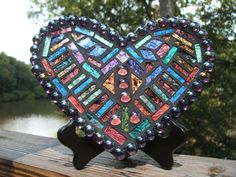 mosaic glass heart