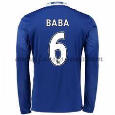 01e21bf7a6 Camisetas De Futbol Chelsea Baba 6 Primera Equipación Manga Larga 2016-17  Chelsea Trikot