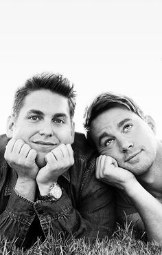 Channing Tatum & Jonah Hill Get Bromantic on EW's Jump Street' Cover! Channing Tatum leans on his 22 Jump Street co-star Jonah Hill's shoulder on the brand new cover of Entertainment Weekly. Here's what the duo had to share with… Jonah Hill, Beautiful Men, Beautiful People, Perfect People, 22 Jump Street, Besties, Bestfriends, Comedy, Chef D Oeuvre