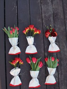 DIY Inspiration - Flower Wraps - Would look good with Washi Tape