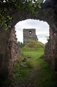 The ruins of the original Toward castle destroyed by the Campbell clan.