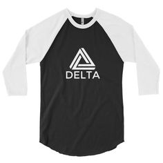 A stylish spin on the classic baseball raglan. The combed cotton blend makes it super soft, comfortable, and lightweight. ¾ Sleeve raglan shirt, Poly-cotton blend (50% polyester, 50% combed cotton), Ribbed neckband, Made in the USA, sweatshop free.   deltastrengthtraining.com
