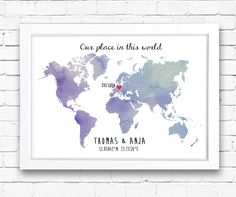 Our place in this world - A3 Originaldruck von Drawing Birdy auf DaWanda.com