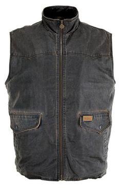 Outback Trading Co. Landsman Vest Mens Brown Cotton Blend Washed Vintage  Bavlna 300fb9c0aa