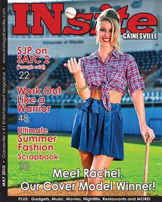Rachel Calderon, our first Cover Model Contest winner, won a photoshoot at the UF baseball diamond for our May 2010 cover. #INsite #gainesville #florida #magazine