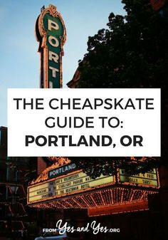 The Cheapskate Guide To: Portland - - What to travel cheaply in Portland? Click through for Portland travel tips from a local on the best, cheapest food to eat, things to do, and places to go! Travel Advice, Travel Guides, Travel Tips, Travel Checklist, Travel Essentials, Oregon Road Trip, Oregon Travel, Oregon Map, Places To Travel