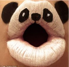Animal-ipstick: A new take on face-painting that has become a gob ...