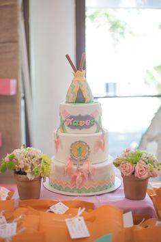 Bohemian-themed Birthday Cake   http://babyandbreakfast.ph/2015/07/17/the-beautiful-boho/   Maggie J Hart Photography