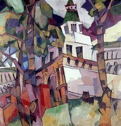 """Gates of tour, study for the New Jerusalem"" 1917: Aristarkh Lentulov (1882 - 1943)"