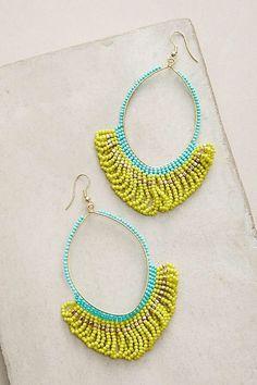 NWOT Anthropologie Beaded Loop Earrings Retails $58 | eBay