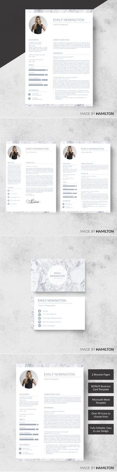 Resume template   CV Template by Emilyu0027s ART Boutique on - resume template for business
