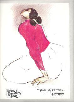 "R C Gorman Print Native Amerucan Indian ""Woman in Pink Blouse""   eBay"