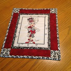 Mini quilted wallhanging/mat by JamJangle on Etsy