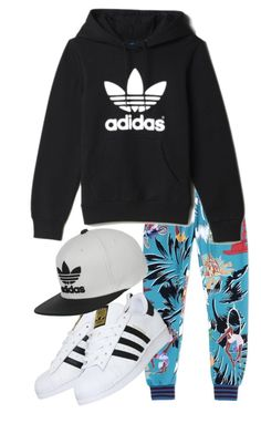"""""""Adidas"""" by kit-kat-1987 ❤ liked on Polyvore featuring adidas, women's clothing, women's fashion, women, female, woman, misses and juniors"""