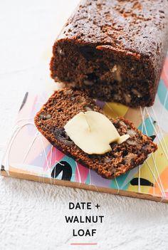 Date & Walnut Loaf Recipe - Loaf Recipes, Baking Recipes, Cake Recipes, Dessert Recipes, Desserts, Healthy Cake, Healthy Baking, Date And Walnut Loaf, Savoury Cake