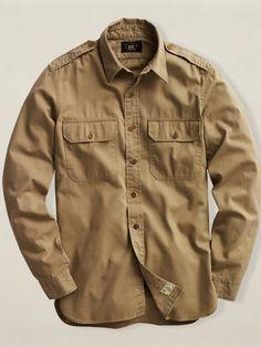 RRL : Twill Utility Shirt