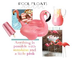 """""""the pink flamingo"""" by theworldisatourfeet ❤ liked on Polyvore featuring interior, interiors, interior design, home, home decor, interior decorating, Lilly Pulitzer, Sunnylife, FunInTheSun and polyvorecommunity"""