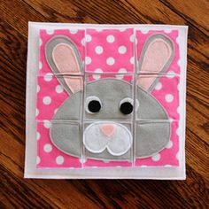 "New! ""Bunny Puzzle"" Just in Time for Easter! A Custom Hand-Crafted Quiet Book Page- A Single Page to Expand Your Personalized Quiet Book by RoseInBloomCreations on Etsy"