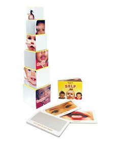 Introduce baby to him or herself with this sweet educational set. It includes a board book, nesting blocks and mirrored flashcards, so little ones can learn to recognize noses, mouths and eyes by looking at their own faces along with the faces of other babies.