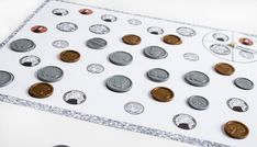 """Here's a """"spin and cover"""" coin recognition activity."""