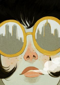"""Glasses"" - A Giclée Print by Ericka Lugo  #inprnt #print #art #Illustration $20.00"