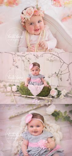 J's Pretty Floral Studio Portraits!   Heidi Hope Photography