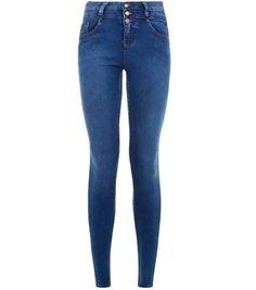 Blue High Waisted Super Skinny Jeans