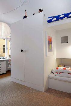 built-in bunks for 3 kids